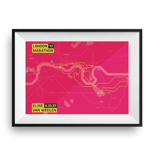 Print London marathon Clean Pink