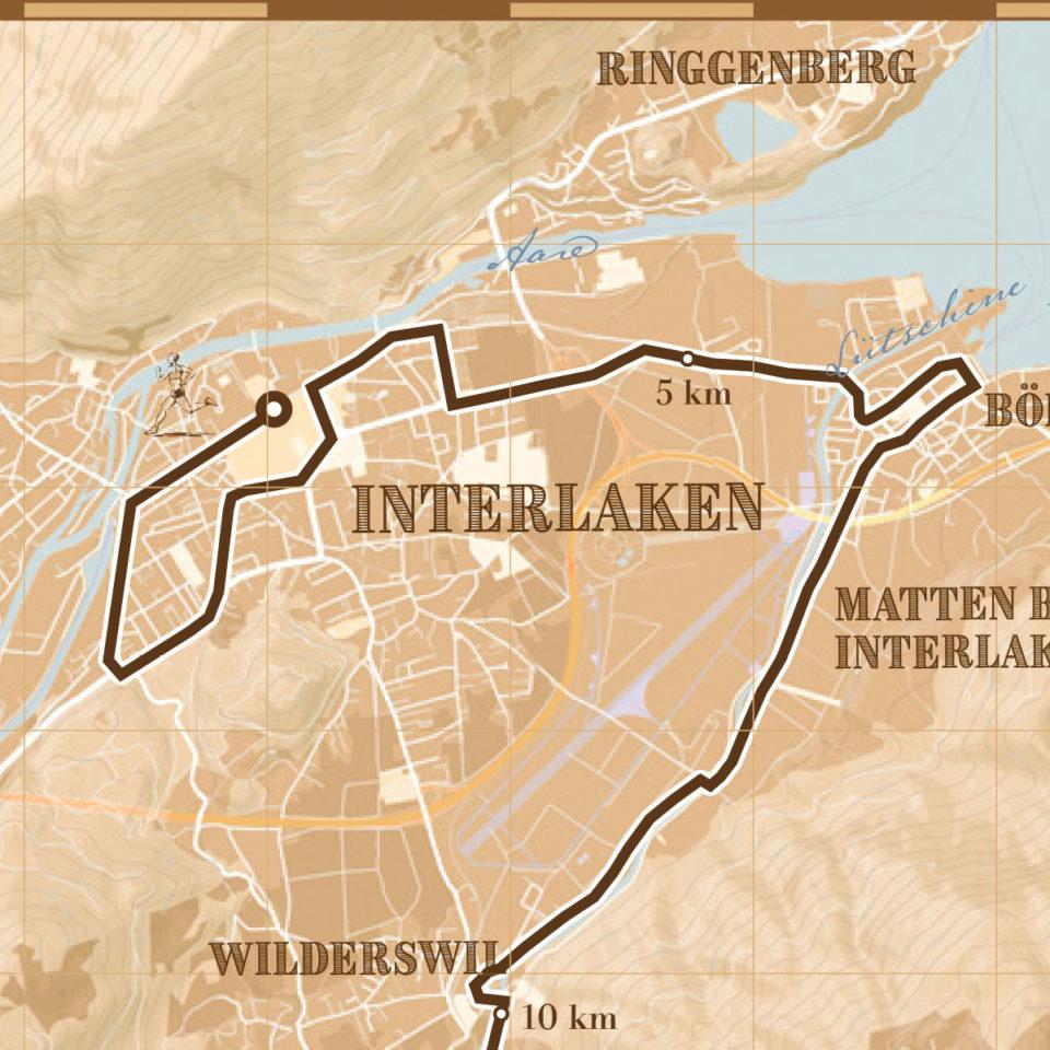 Jungfrau Marathon print – print my run